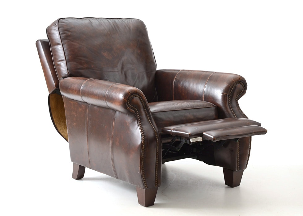 Bernhardt Brown Leather Recliner ...  sc 1 st  Everything But The House & Bernhardt Brown Leather Recliner : EBTH islam-shia.org