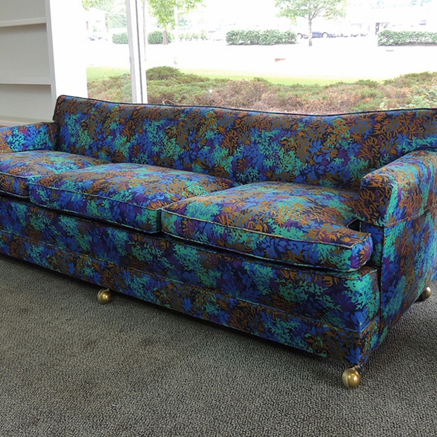 Tropical Blue Patterned Sofa