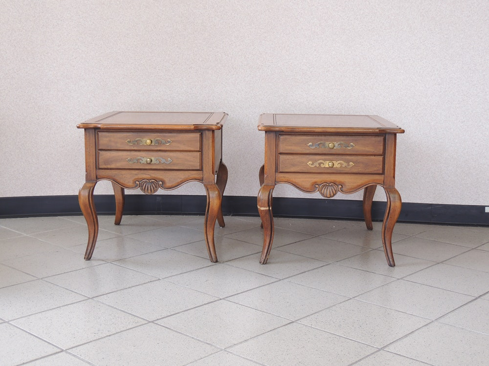 Hekman Queen Anne Style End Table Set ...