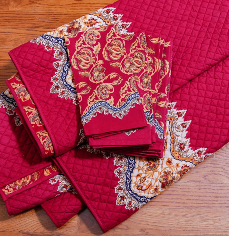 how to make quilted tablecloth