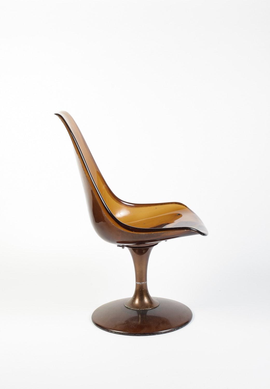 Vintage Smokey Lucite Chromcraft Tulip Chair Ebth