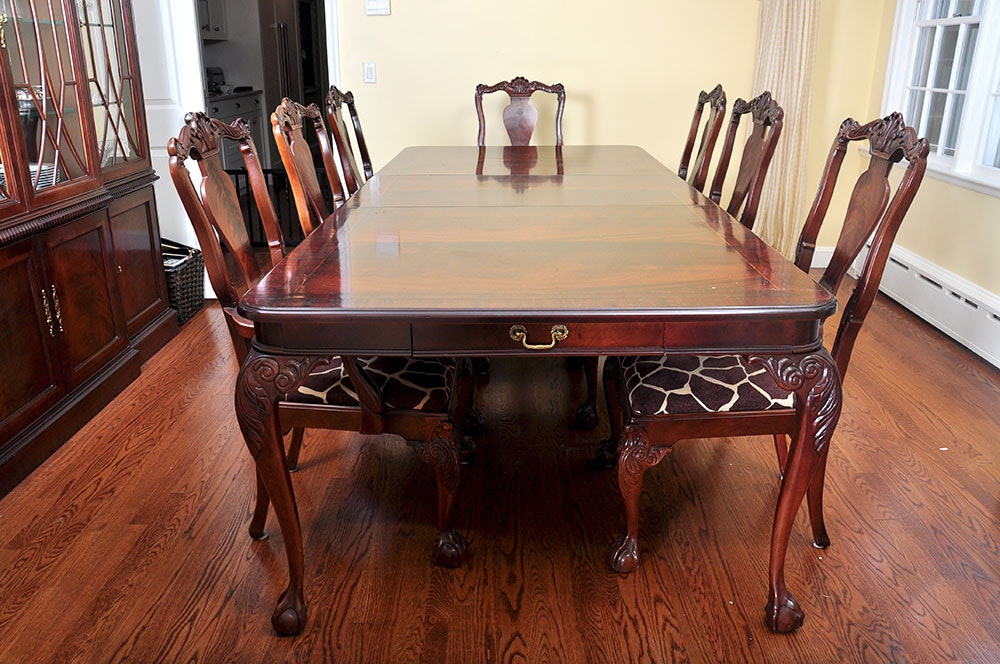 Bernhardt Dining Room Set & Vintage Chairs Antique Chairs and Retro Chairs Auction in ...