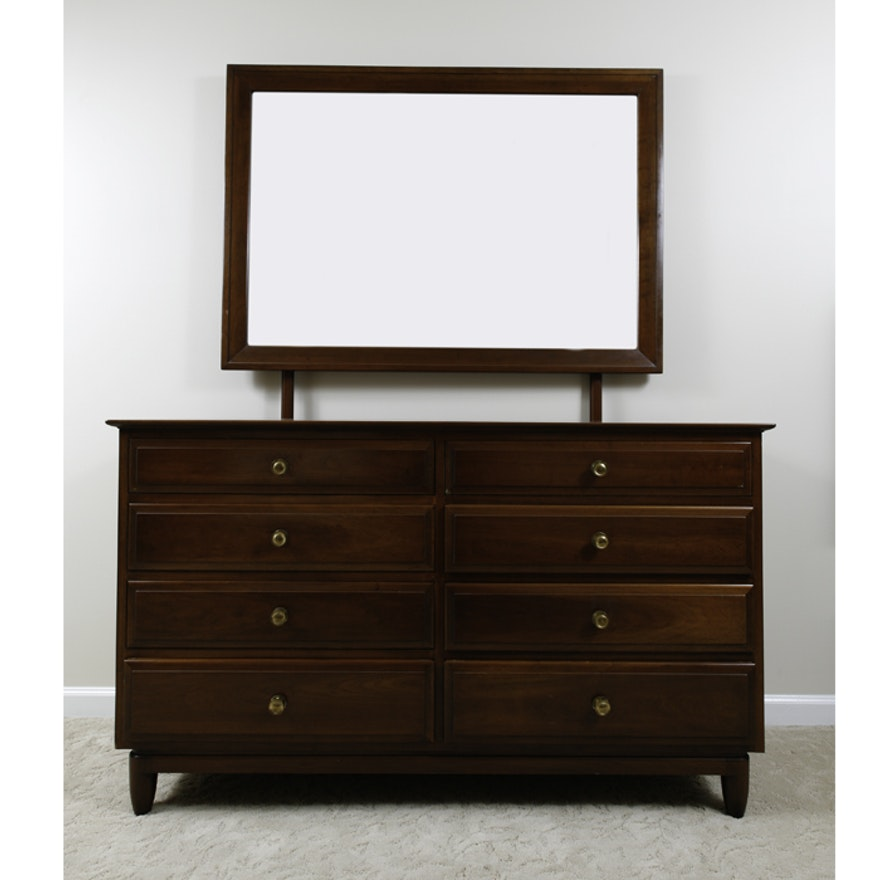 Bassett Furniture Louisville Ky: Willett Furniture Company Transitional Dresser And Mirror