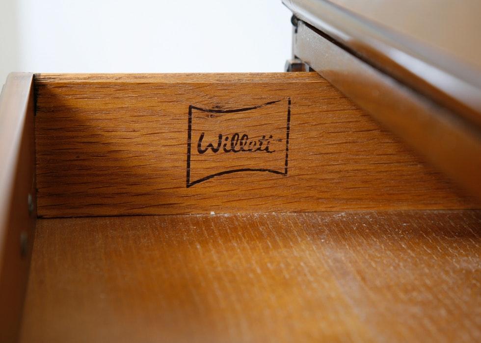 Vintage Willett Slant Front Secretary Desk Ebth