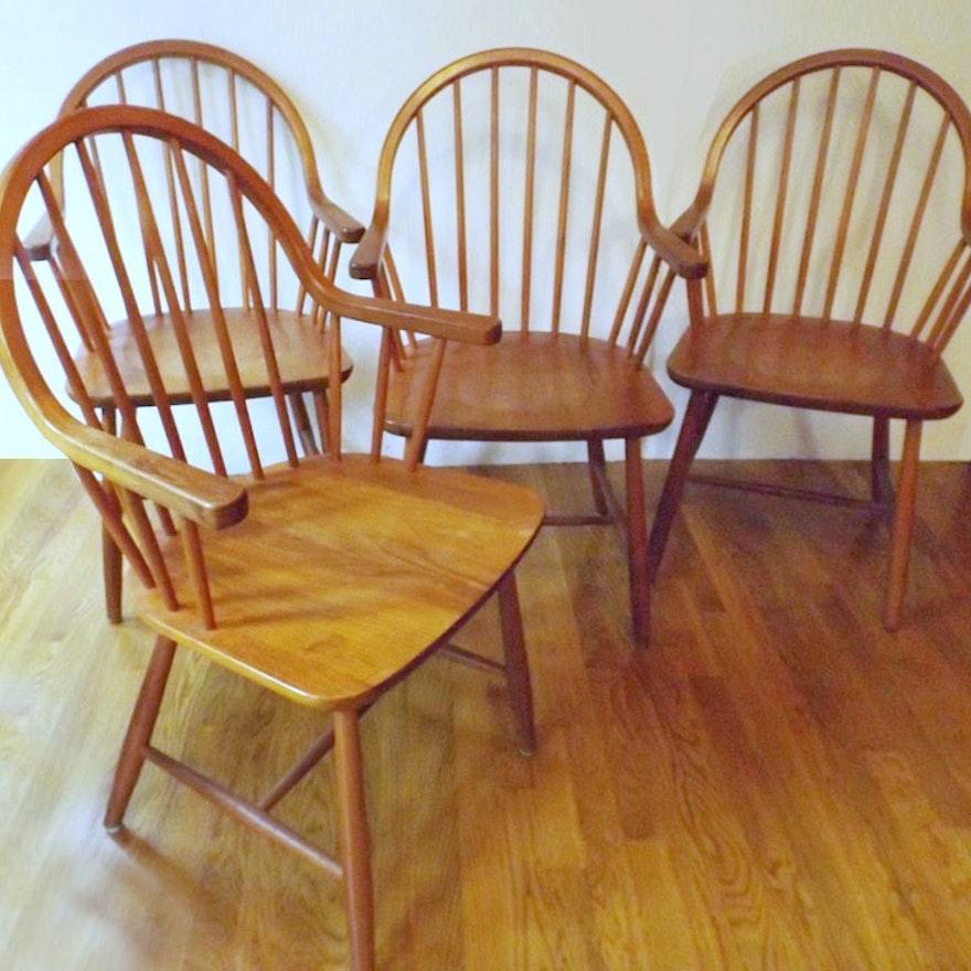 Four Mid-Century Danish Teak Chairs From Tarm Stole