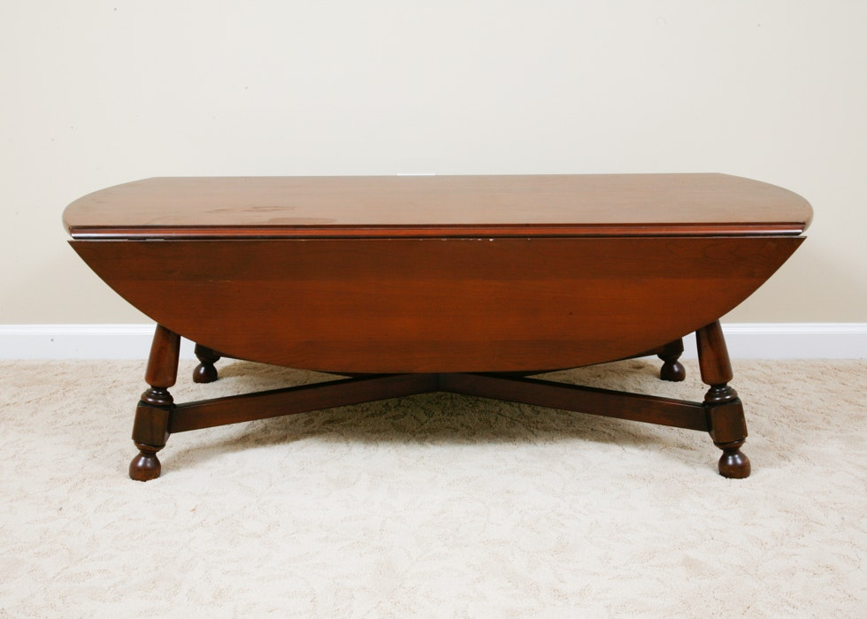Vintage Oval Marblehead Bay Willett Drop Leaf Coffee Table ...