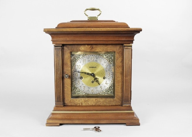 howard miller cherry triple chime mantel clock