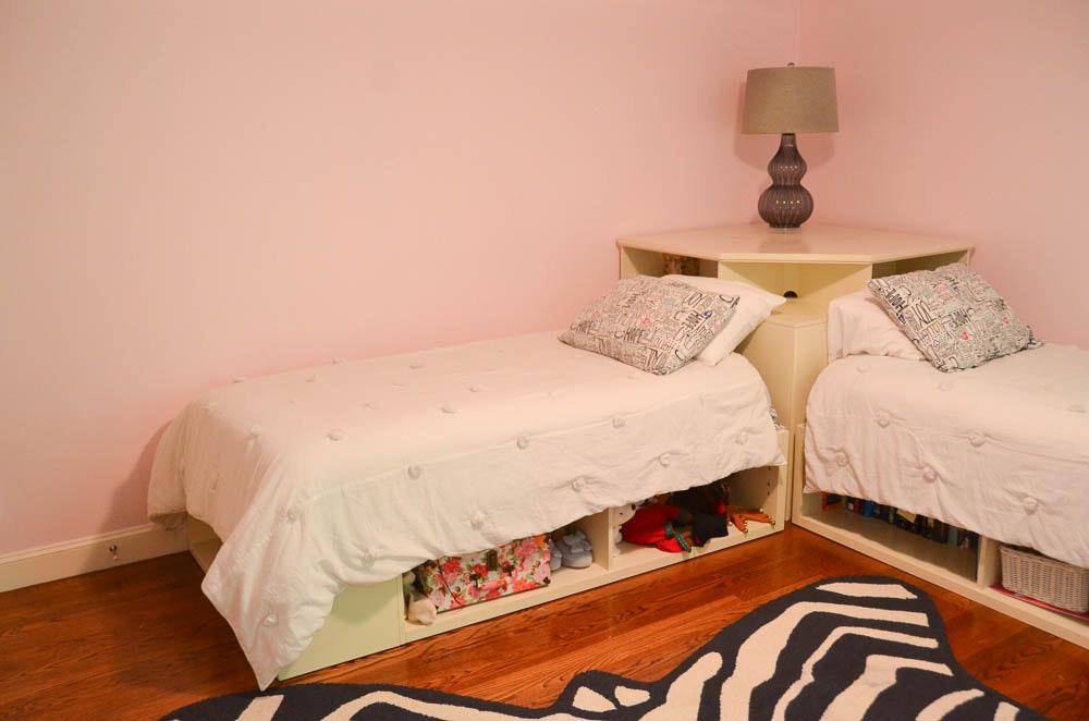 Pottery Barn L Shape Twin Bed Set Ebth