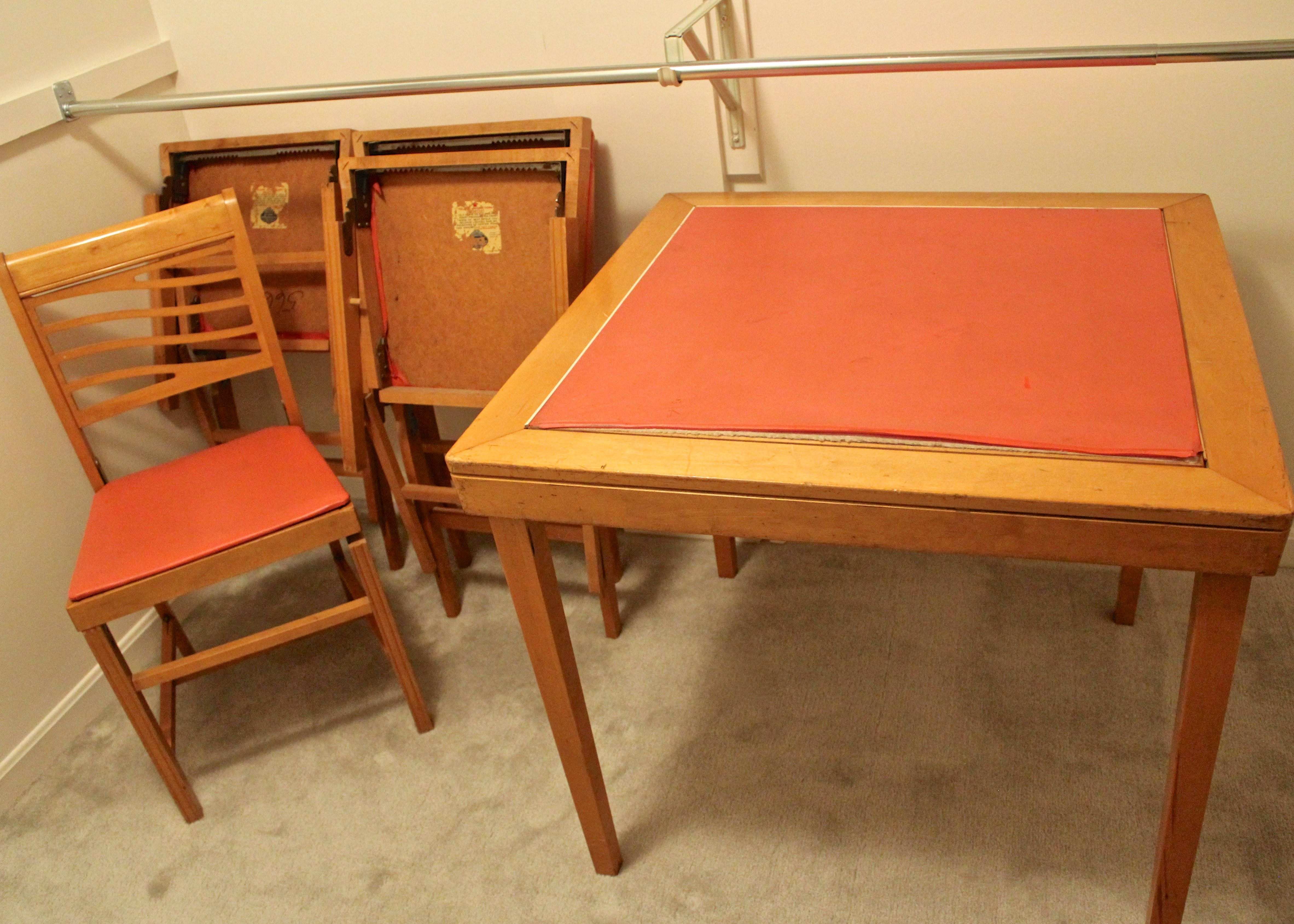 vintage norquist folding table and chairs ebth