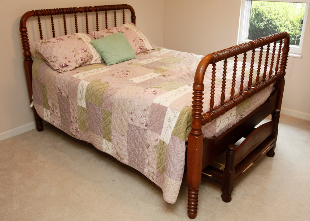 Jenny Lind Double Bed with Rope Trundle : EBTH