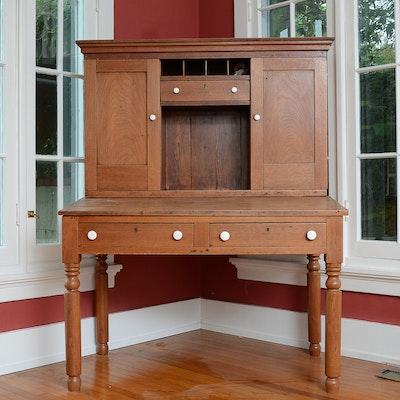 Mid-19th Century Walnut Plantation Desk - Online Furniture Auctions Vintage Furniture Auction Antique