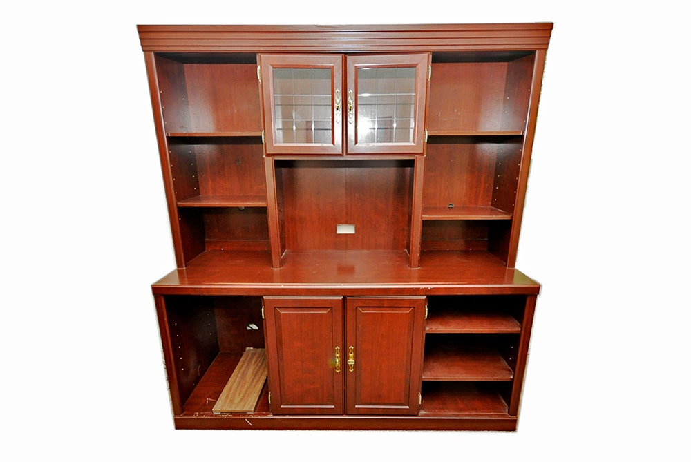 Home office unit Double Desk Wall Home Office Unit Everything But The House Home Office Unit Ebth