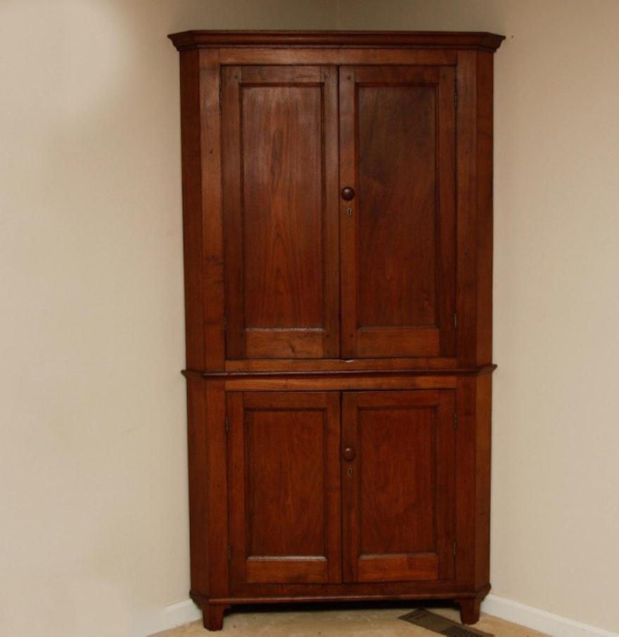 Antique Kentucky Cherry Corner Cupboard ... - Antique Kentucky Cherry Corner Cupboard : EBTH