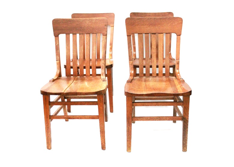 Antique wicker chair - Two Antique Oak Bentwood Bistro Chairs Ebth