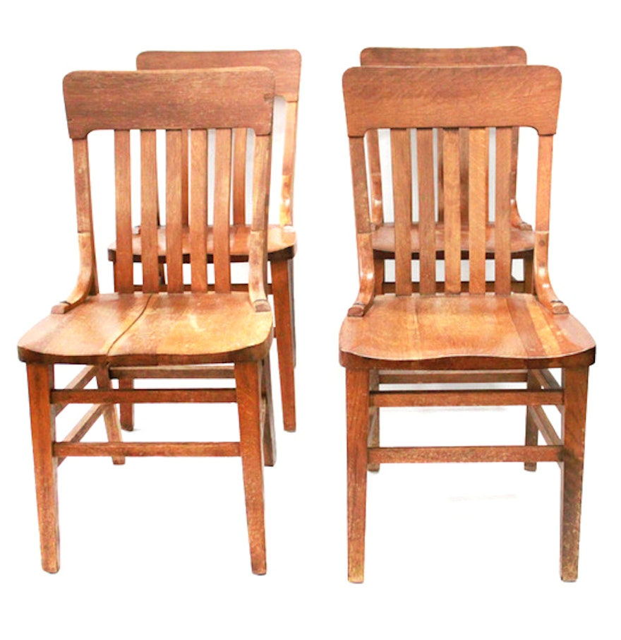 Murphy Chair Company Tiger Oak Mission Chairs : EBTH