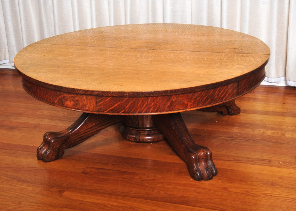 Genial Claw Foot Oak Coffee Table ...