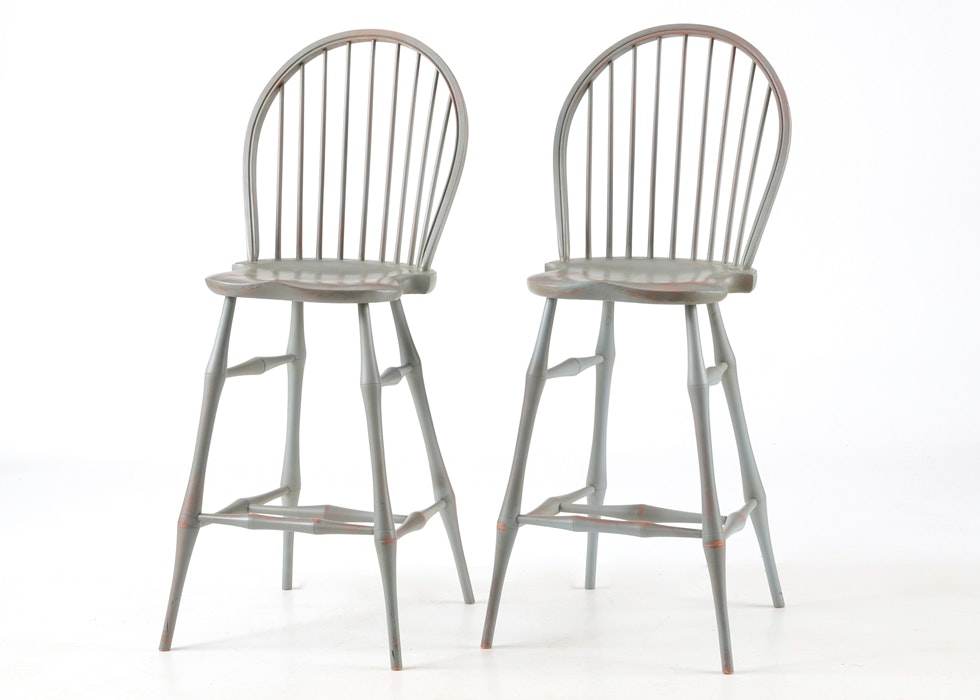 Set Of Two Windsor Bar Stools By David T Smith Ebth
