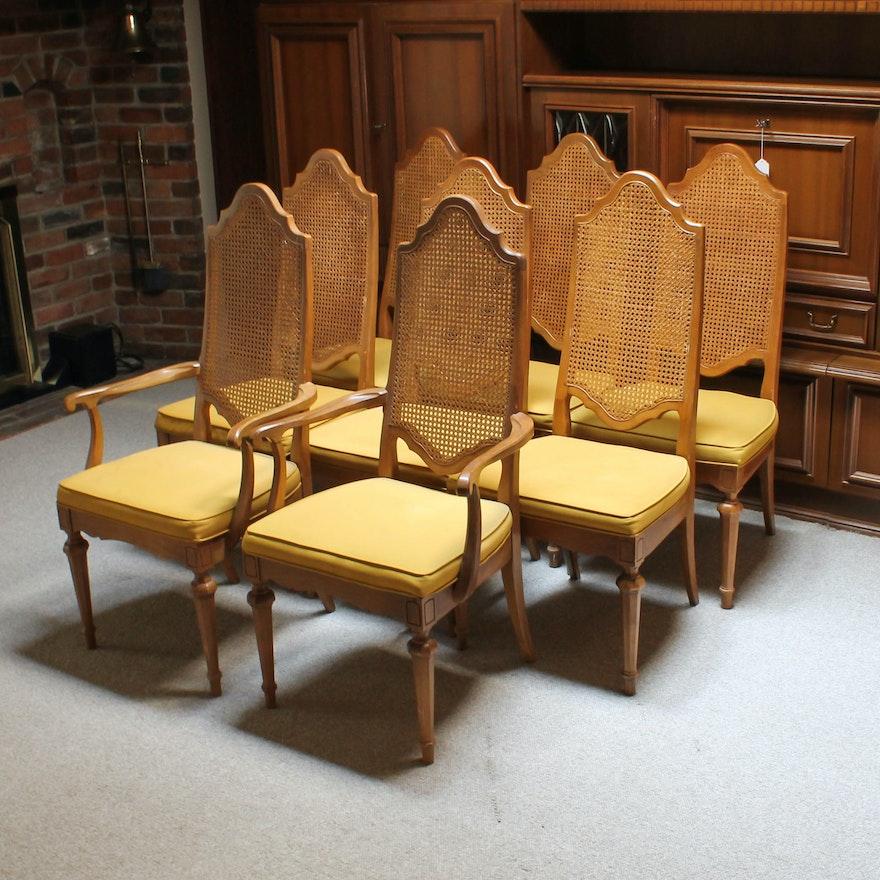 Set of Bernhardt Furniture Cane Dining Chairs : EBTH