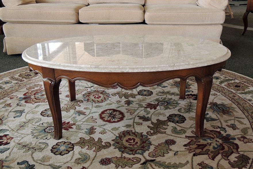 Italian Marble Top Coffee Table Ebth