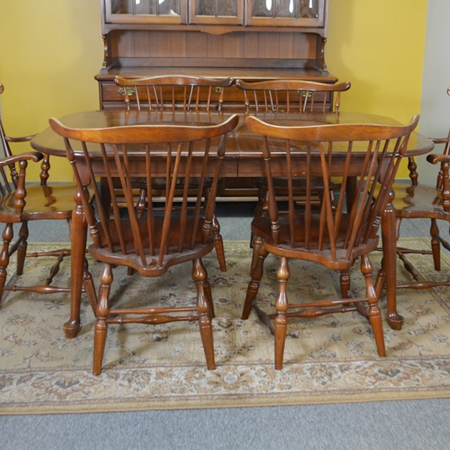 Pennsylvania House Cherry Dining Table And Six Chairs