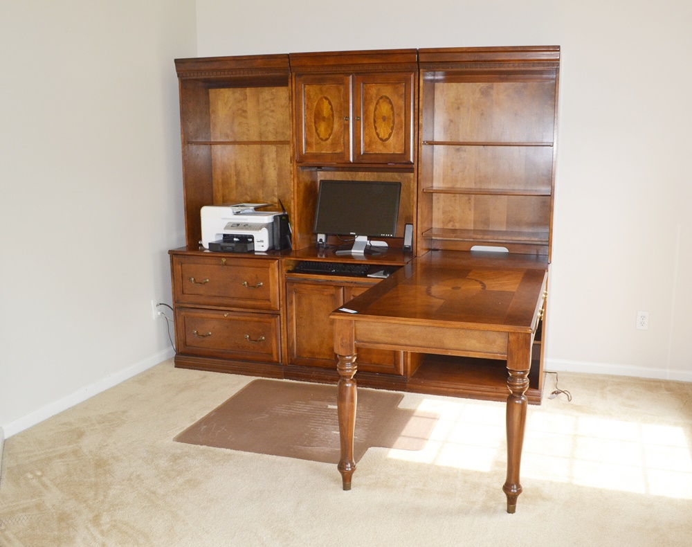 Glen Eagle Office Unit With Desk Return By Ashley FurnitureEBTH