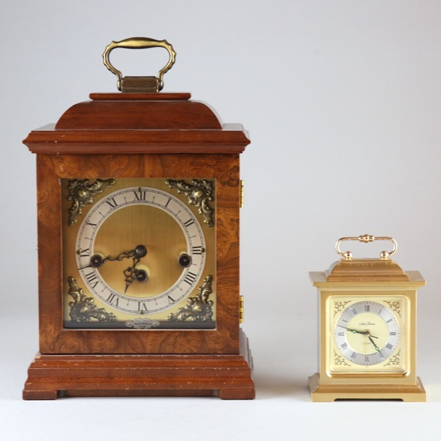 Wuersch Mantel Clock And Seth Thomas Quartz Carriage Clock