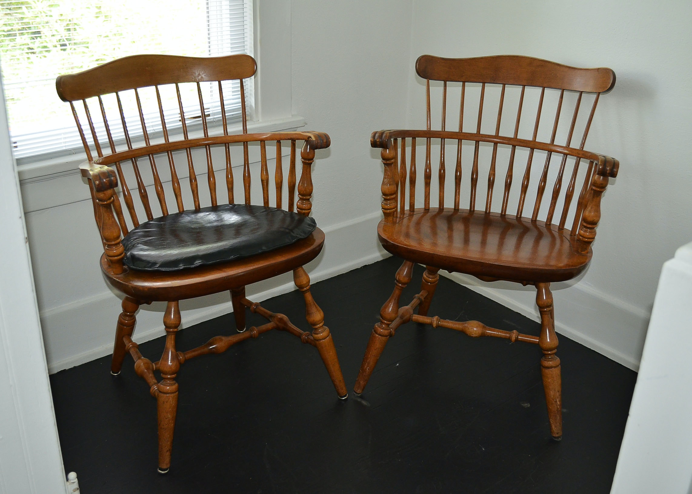Pair of Nichols & Stone Co. Windsor Style Chairs