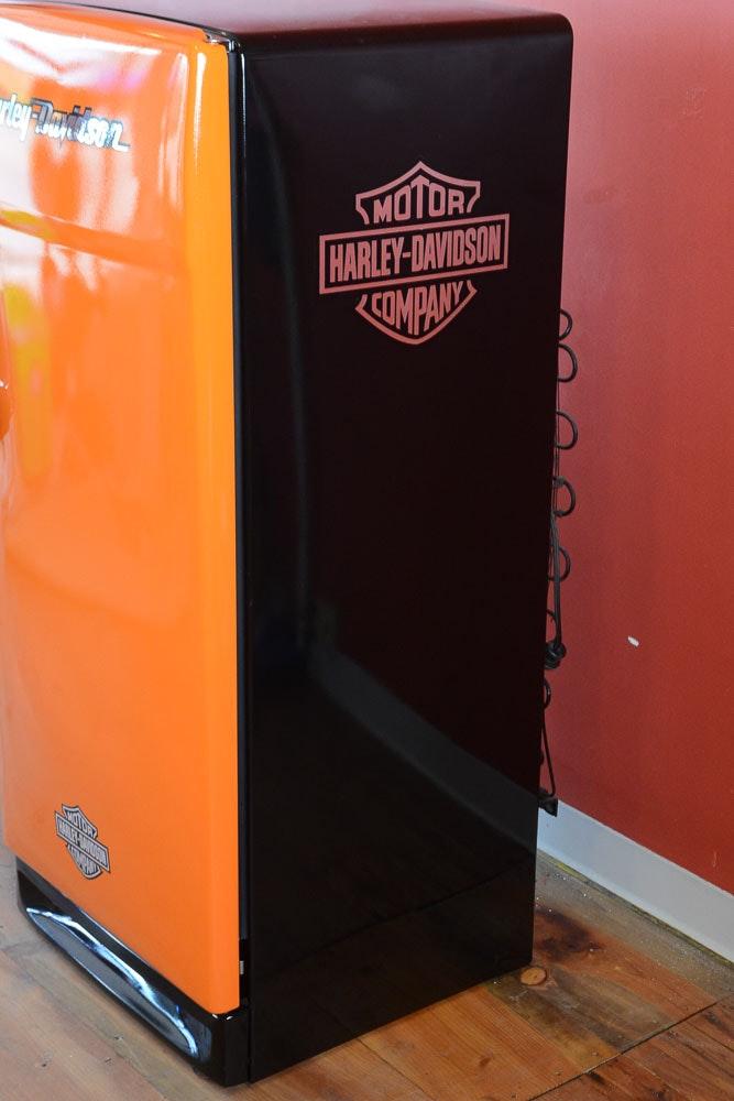 Vintage General Electric Refrigerator With Harley Davidson