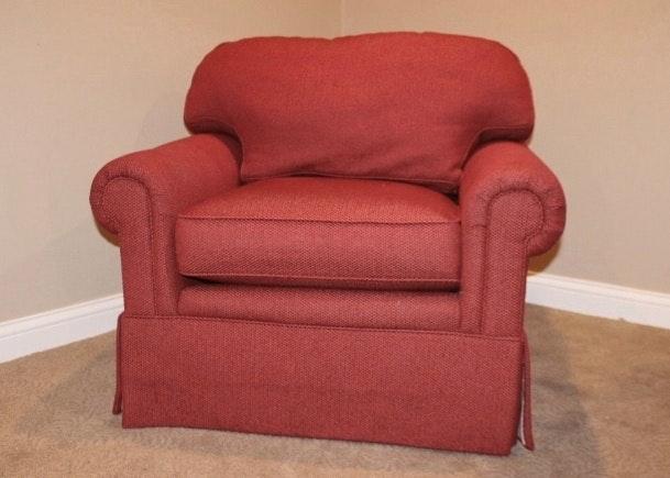 E.J. Victor Red Swivel Armchair ...