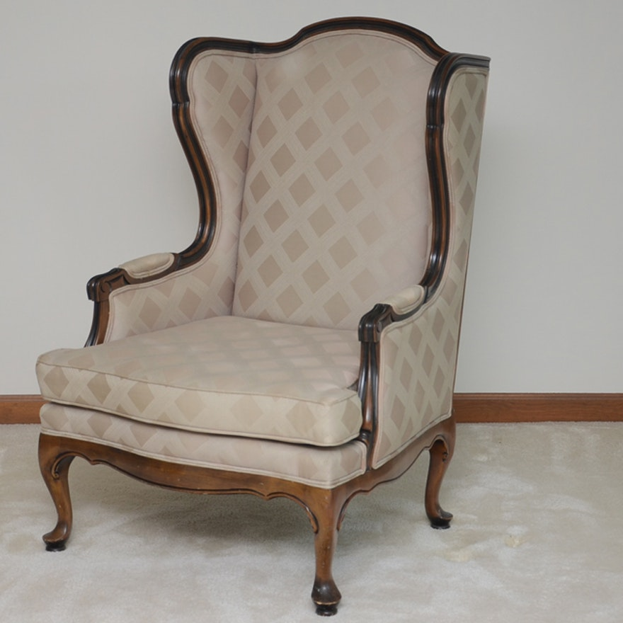 Ethan Allen Queen Anne Style Wing Back