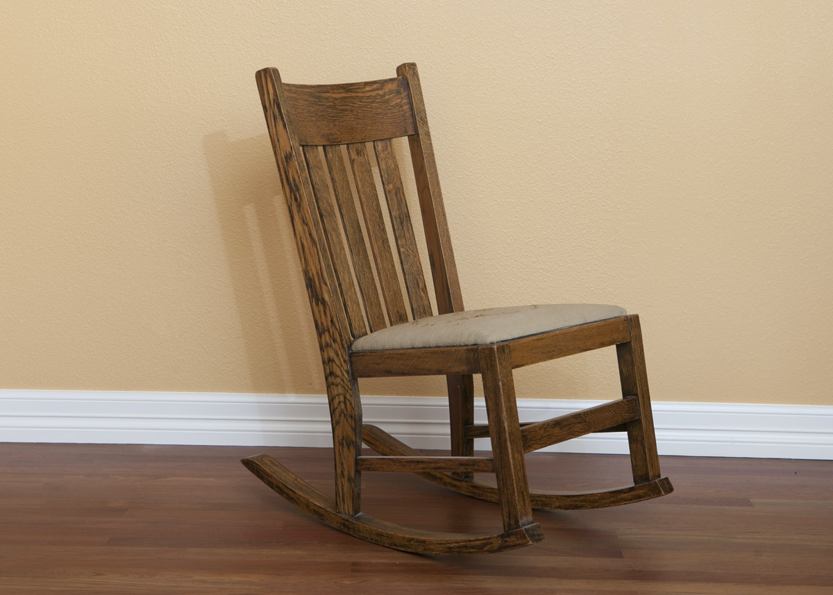 Antique Solid Wood Rocking Chair ...
