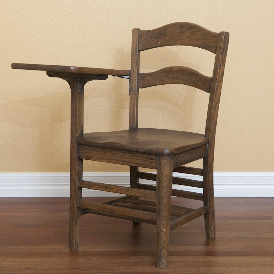 Antique Student Desk Chair ... - Antique Student Desk Chair : EBTH