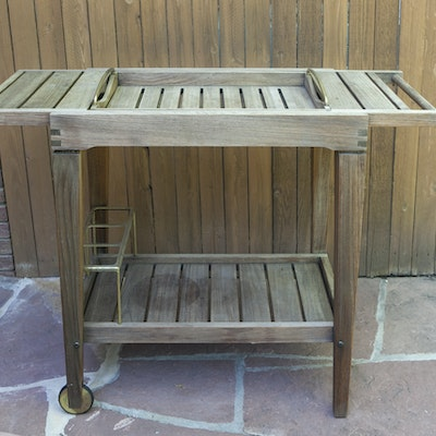 Smith And Hawken Teak Patio Serving Table