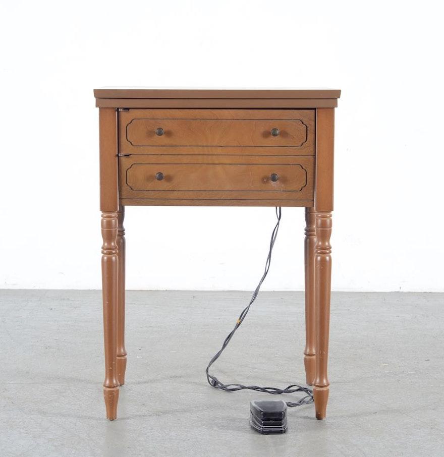 Sears Kenmore Zig Zag Sewing Machine Table Ebth