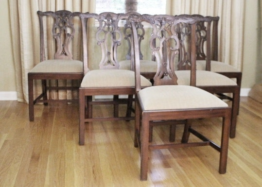 Six Maitland Smith Mahogany Chippendale Dining Chairsu0027 ... : mahogany chippendale dining chairs - Cheerinfomania.Com
