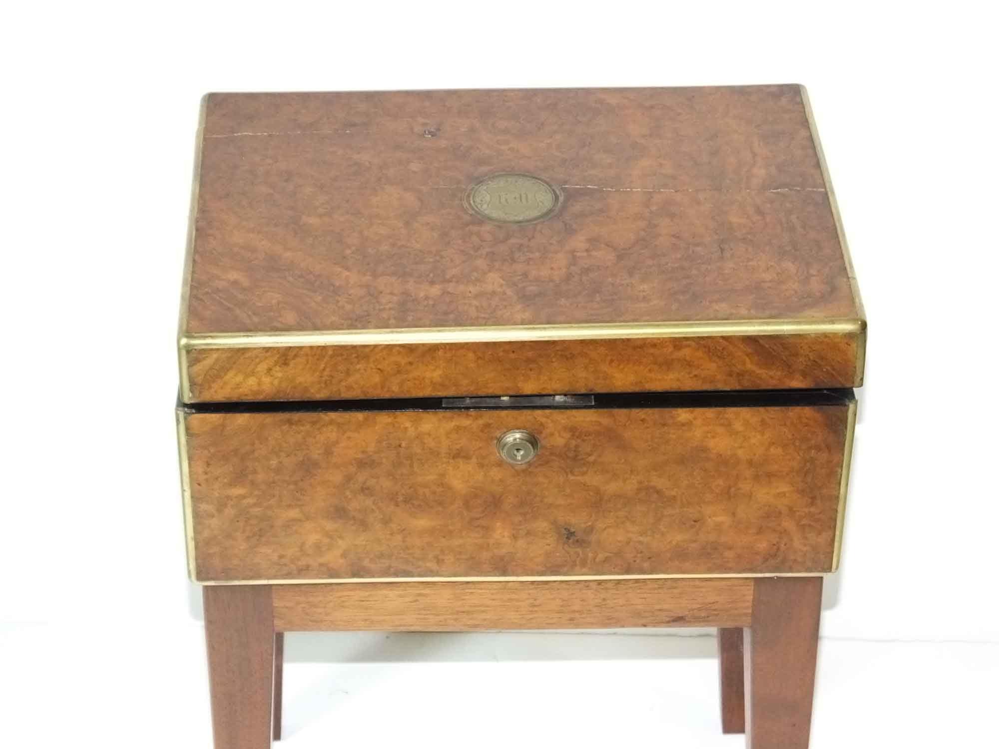 Antique Campaign Lap Writing Desk Ebth