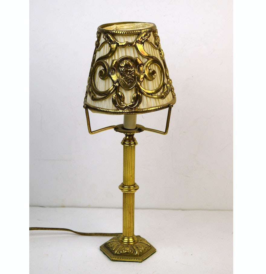 Small accent lamp - Small Accent Lamp With Metal Shade Cover