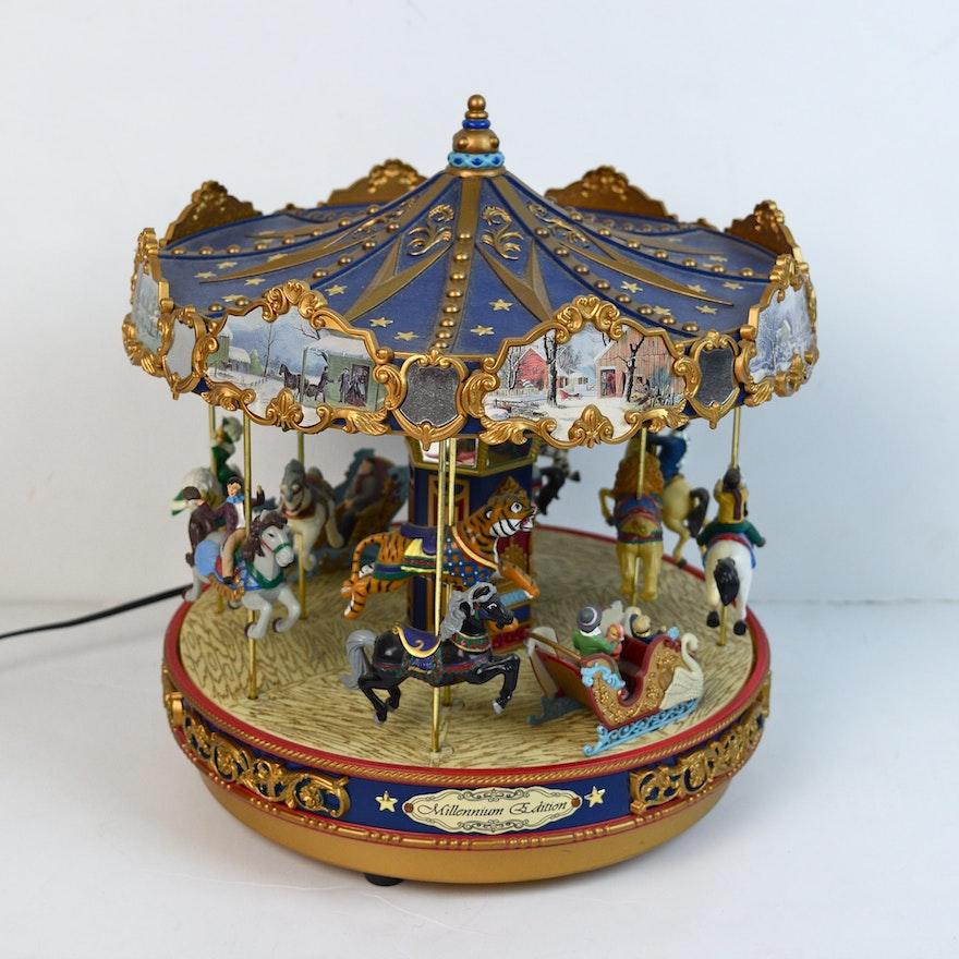 Mr Christmas Carousel.Mr Christmas Millennium Edition Musical Carousel