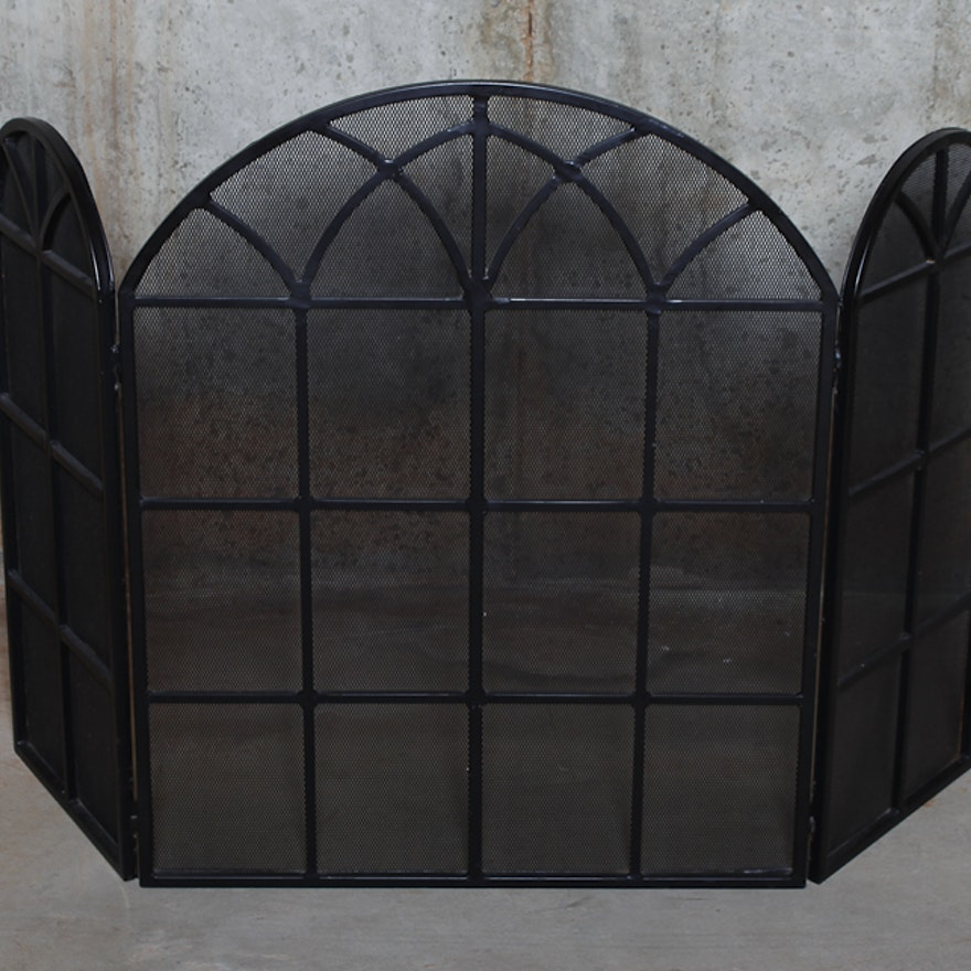 tri fold fireplace gate ebth