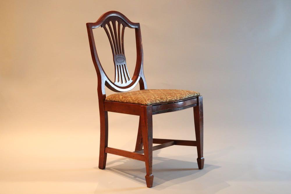 Early 20th Century Mahogany Shield Back Chair