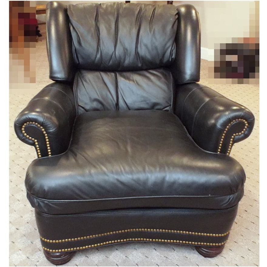 A Zagaroli Leather Reclining Armchair