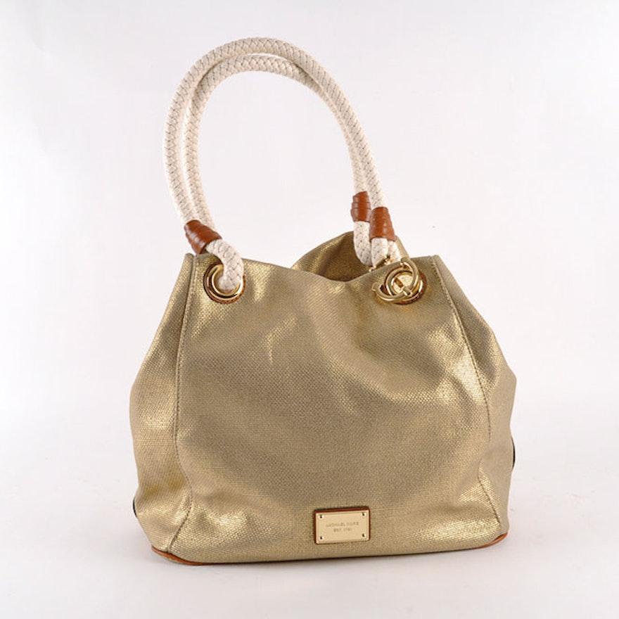 89e2874d1137 Large Michael Kors Marina Canvas Grab Bag : EBTH