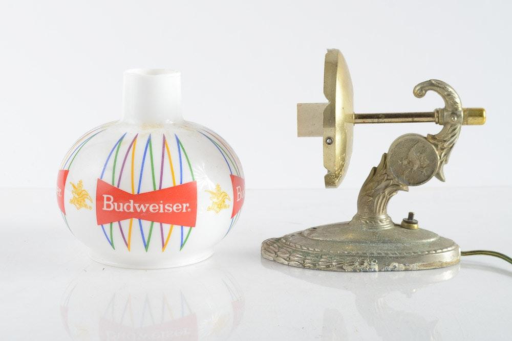Vintage Budweiser Bar Wall Light Sconce Ebth