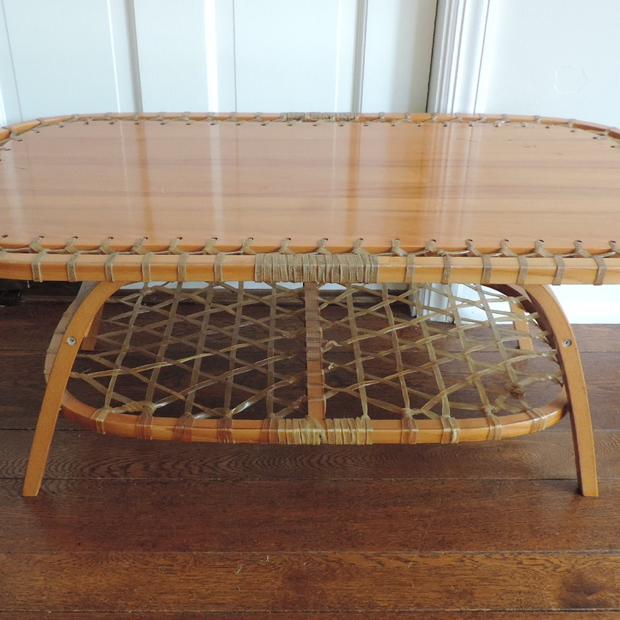 Vintage Snocraft Snow Shoe Table Ebth
