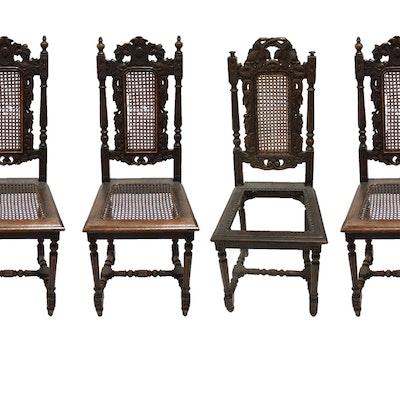 Set of Antique Belgium Wooden Chairs - Vintage Chairs, Antique Chairs And Retro Chairs Auction In
