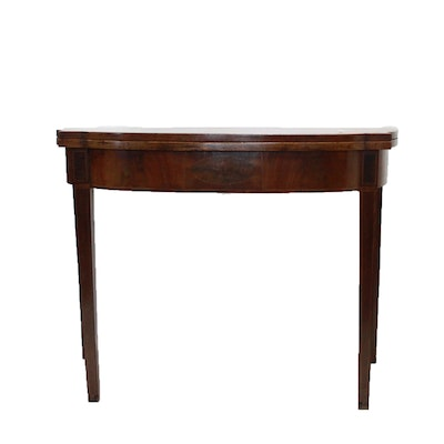 Antique Mahagony Sheraton Style Card Table. Online Furniture Auctions   Vintage Furniture Auction   Antique