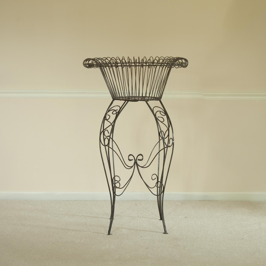Wrought Iron Plant Stand Ebth