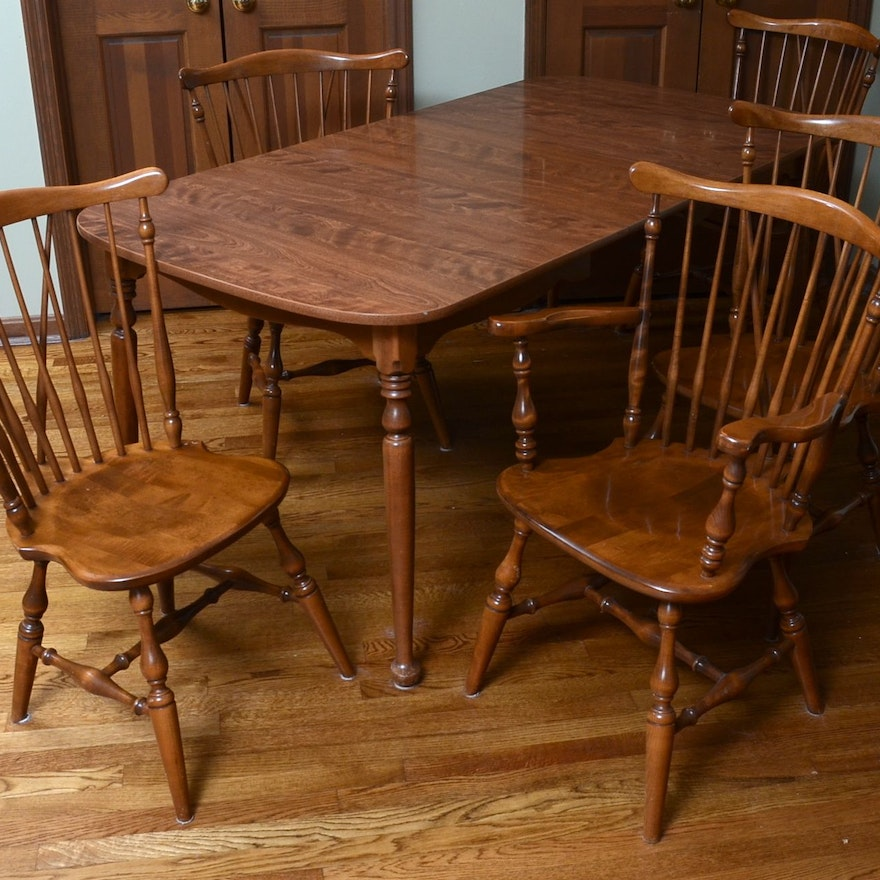 Ethan Allen Dining Table And Chairs EBTH