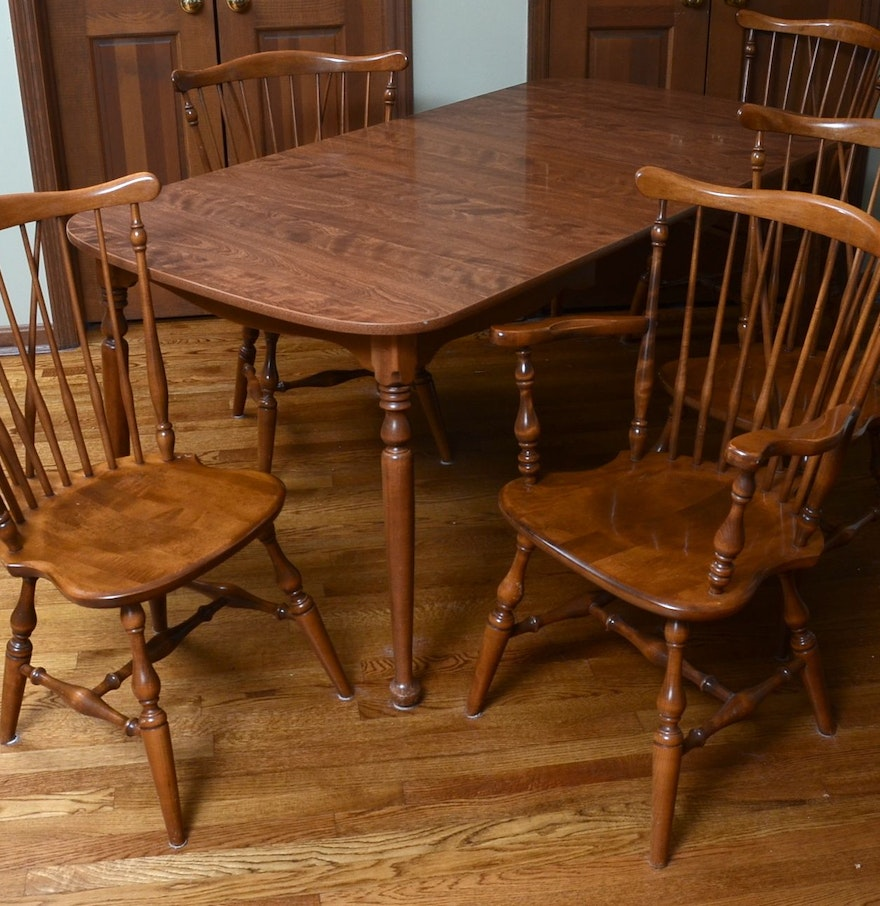 Ethan Allen Dining Room Sets: Ethan Allen Dining Table And Chairs : EBTH