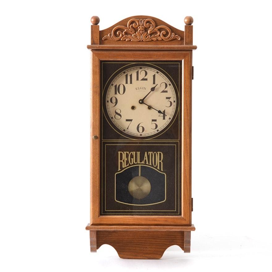 Vintage Elgin Wall Clock Ebth